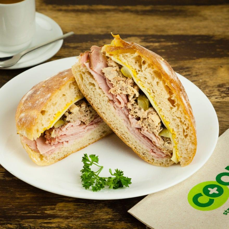 Cubano sandwich made fresh in Bellingham Community Food Co Op's deli.